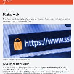 Página Web - Concepto, tipos y para qué sirve