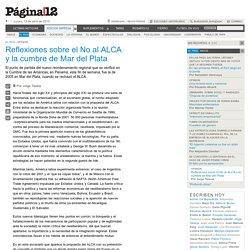 Reflexiones sobre el No al ALCA y la cumbre de Mar del Plata