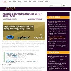 Paginación de registros de una base MySQL con PHP y jQuery - Parte 1