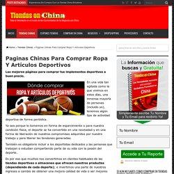 Paginas Chinas Para Comprar Ropa Y Artículos Deportivos