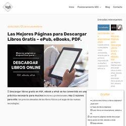 Páginas para Descargar Libros Gratis - ePub, eBooks, PDF □