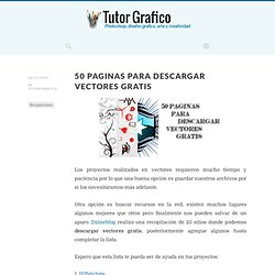 50 paginas para descargar vectores gratis | Tutor Grafico