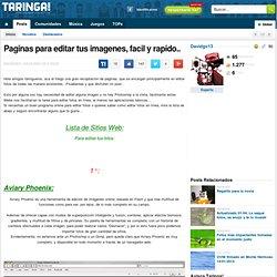 Paginas para editar tus imagenes, facil y rapido..