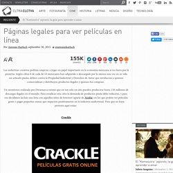Páginas legales para ver películas en línea