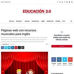 Páginas web con recursos musicales para Inglés