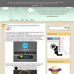 Post.as. como crear páginas web sencillas sin registro.