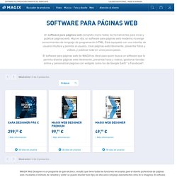 Crear páginas web con el software multimedia – MAGIX
