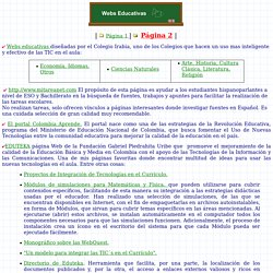 Páginas web educativas