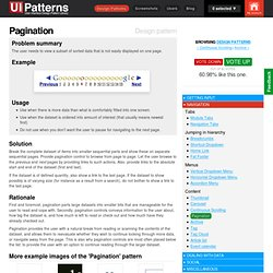 Pagination design pattern