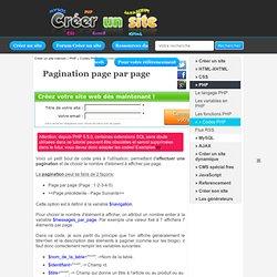 Pagination page par page