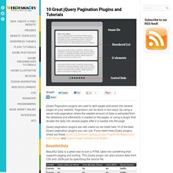 10 Great jQuery Pagination Plugins and Tutorials