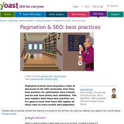 Pagination & SEO: best practices