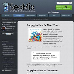 Pagination et WordPress
