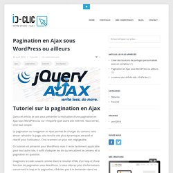 Pagination en Ajax sous Wordpress ou ailleurs
