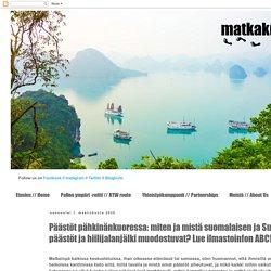 : Päästöt pähkinänkuoressa: miten ja mistä suomalaisen ja Suomen päästöt ja hiilijalanjälki muodostuvat? Lue ilmastoinfon ABC!