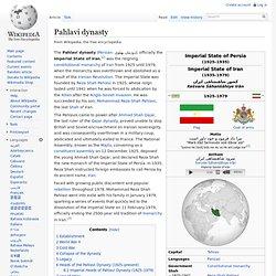 Pahlavi dynasty