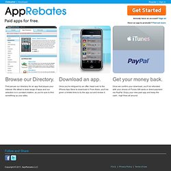 Paid iPhone, iTouch and iPad Apps Free | AppRebates