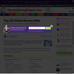 Paid surveys: do online surveys for money - MSE