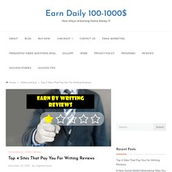 Write reviews and get paid