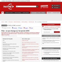 Paie : ce qui change au 1er janvier 2016 NetPME