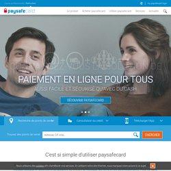 Paiement en ligne sans CB - paysafecard.com