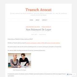 Non Paiement De Loyer – Traesch Avocat