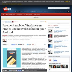 Paiement mobile, Visa lance en France une nouvelle solution pour Android