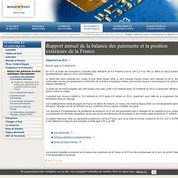 Rapport annuel de la balance des paiements et la position extérieure de la France