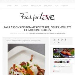 Paillassons de Pommes de Terre, Oeufs Mollets et Lardons Grillés