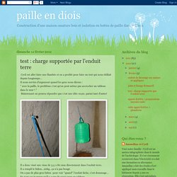 paille en diois: test : charge supportée par l'enduit terre
