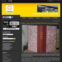PAIMPOL : L'atelier Sylvie DOIN-LE BARS redonne vie à vos livres anciens