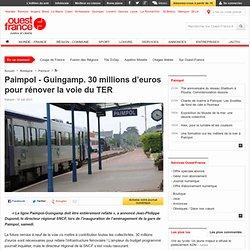 Paimpol - Guingamp. 30millions d'euros pour rénover la voie du TER - Paimpol - Transports