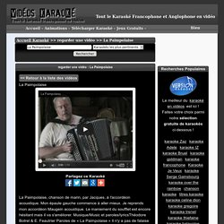 La Paimpolaise - Le karaoké francophone en vidéos - gratuit - Liste de titres gratuits français et étrangers