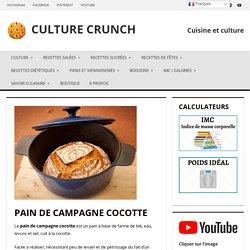 PAIN DE CAMPAGNE COCOTTE