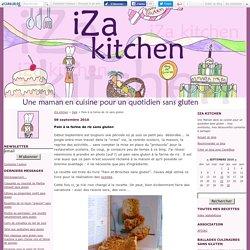 Pain à la farine de riz sans gluten - iZa kitchen