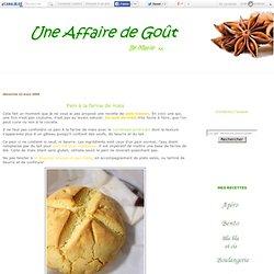 Pain à la farine de maïs - Une affaire de goût