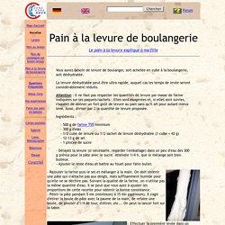 Pain à la levure de boulangerie