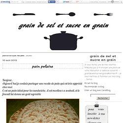 pain polaire - grain de sel et sucre en grain