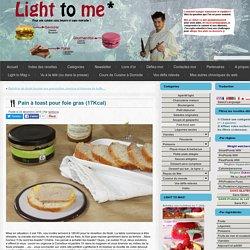 Pain à toast pour foie gras (17Kcal)