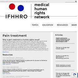 Pain treatment – IFHHRO