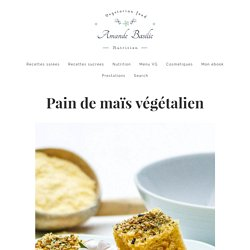 Pain de maïs végétalien