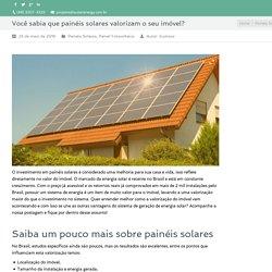 Você sabia que painéis solares valorizam o seu imóvel?