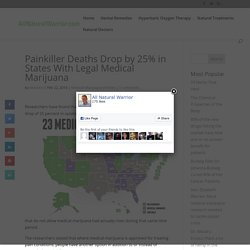 Painkiller Deaths Drop by 25% in States With Legal Medical Marijuana