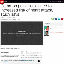 NSAID painkillers linked to increased risk of heart attack