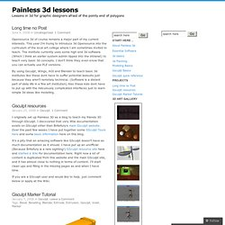 Painless 3d lessons
