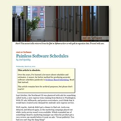 Painless Software Schedules
