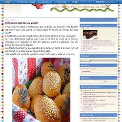 mini pains express au yaourt