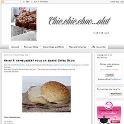 Pains à hamburgers pour la Ronde Inter Blog