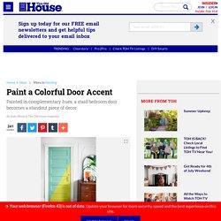 Paint a Colorful Door Accent