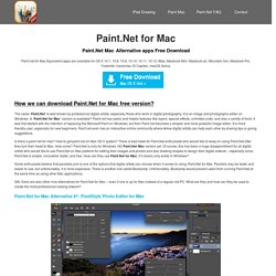 Paint.Net for Mac 3 alternative apps Free Download
